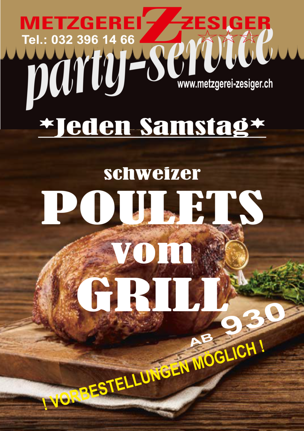 Poulets vom Grill